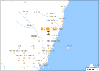 map of Mabunga