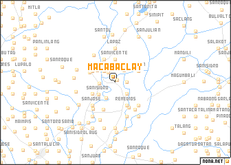 map of Macabaclay