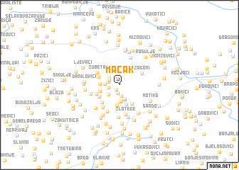 map of Mačak