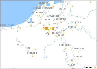map of Macao