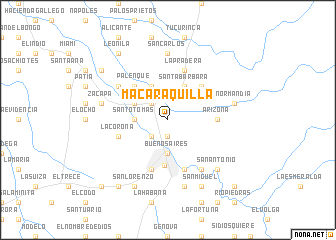 map of Macaraquilla