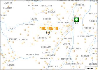map of Macarena