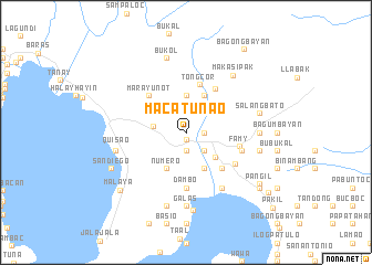map of Macatunao