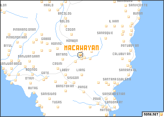 map of Macawayan