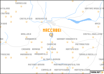 map of Maccabei