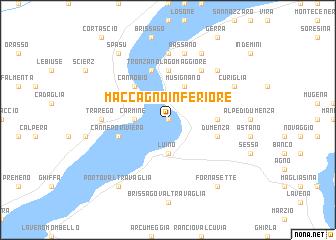 map of Maccagno Inferiore