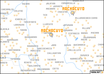 map of Machacuyo
