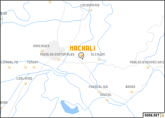 map of Machalí