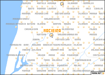 map of Macieira