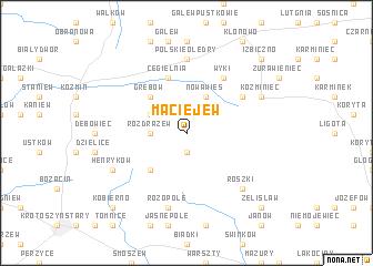 map of Maciejew