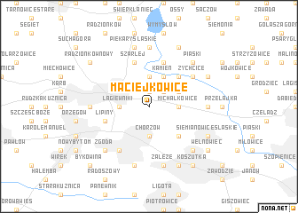 map of Maciejkowice