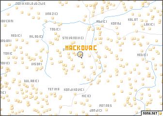 map of Mačkovac