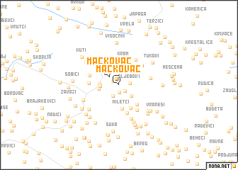 map of Mačkovac