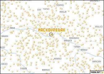 map of Mačkov Redak