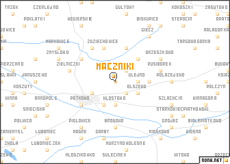 map of Mączniki