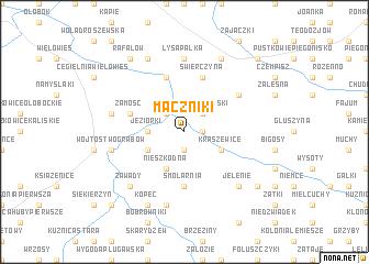 map of Mączniki