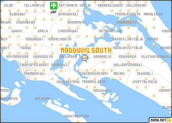 map of Madduvil South