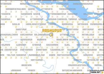 map of Madhupur