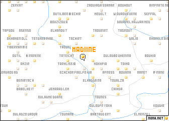 map of Madiine