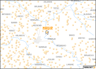 map of Mađir