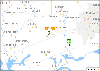 map of Madison