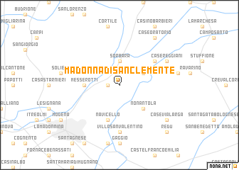 map of Madonna di San Clemente