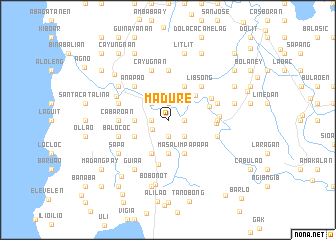 map of Madure