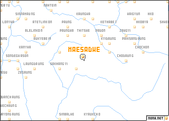 map of Ma-e Sadwe