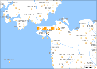 map of Magallanes