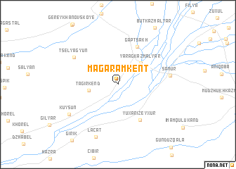map of Magaramkent