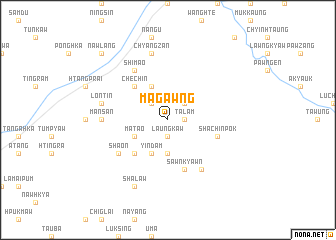 map of Magawng