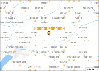 map of Magdalenenhöh