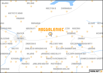 map of Magdaleniec