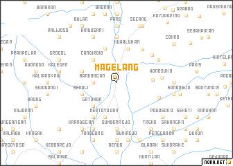 map of Magelang