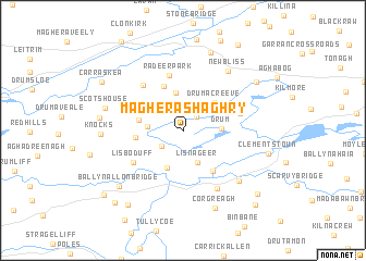 map of Magherashaghry
