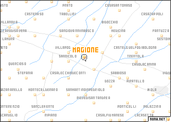 map of Magione