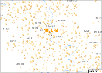map of Maglaj