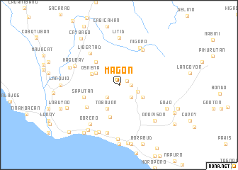 map of Magon
