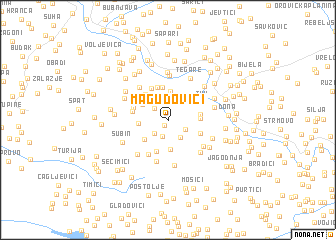 map of Magudovići