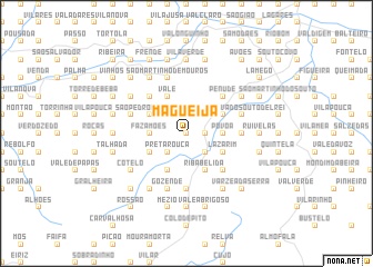 map of Magueija