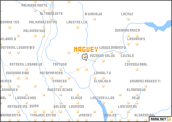map of Maguey