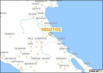 map of Maguiting
