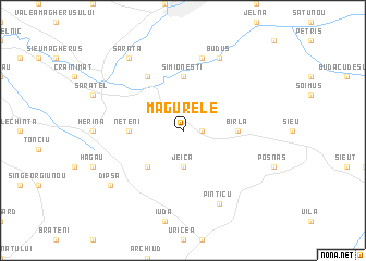 map of Măgurele