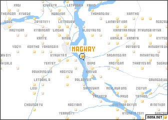 map of Magway