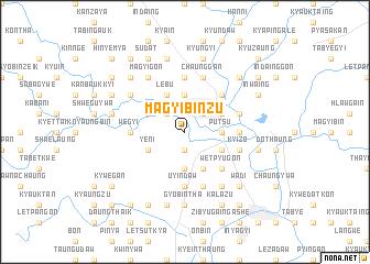 map of Magyibinzu