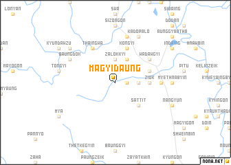 map of Magyidaung