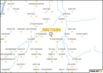 map of Magyidaw
