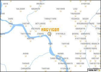 map of Magyigan