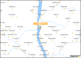 map of Magyigan