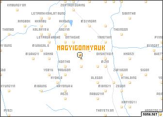 map of Magyigon Myauk